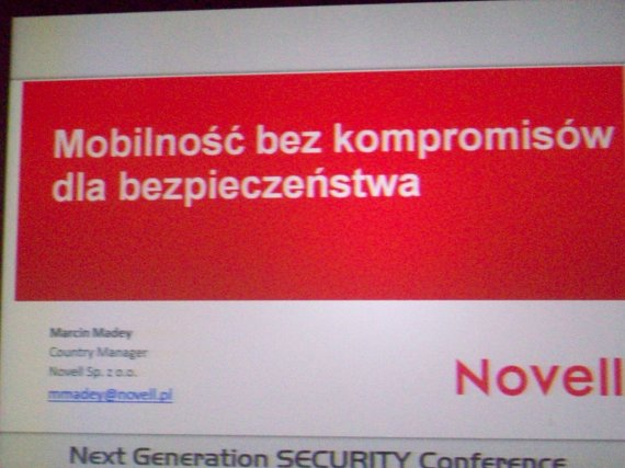 Next Generation Security Conference 2012 - novell2