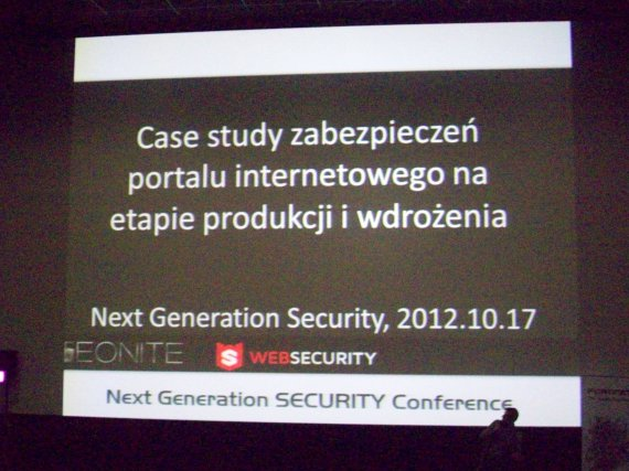 Next Generation Security Conference 2012 - teonite