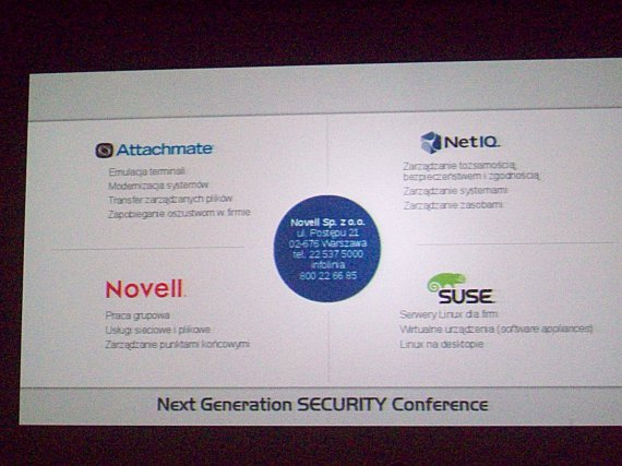 Next Generation Security Conference 2012 - novell_d2